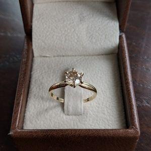 Jewelry - Engagement Diamond Ring 14k Yellow Gold .70 CT